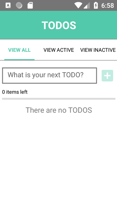 TODOS app on Android