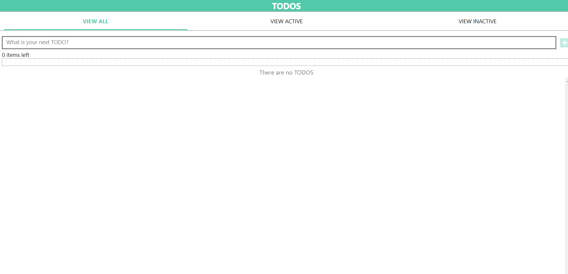 TODOS app on the Web
