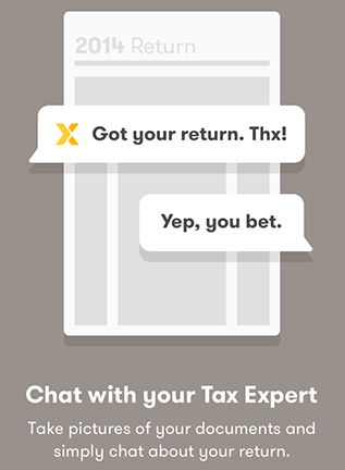 TaxChat onboarding screen